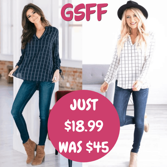 Callie Grid Tunic Just $18.99! Down From $45! Shipped!