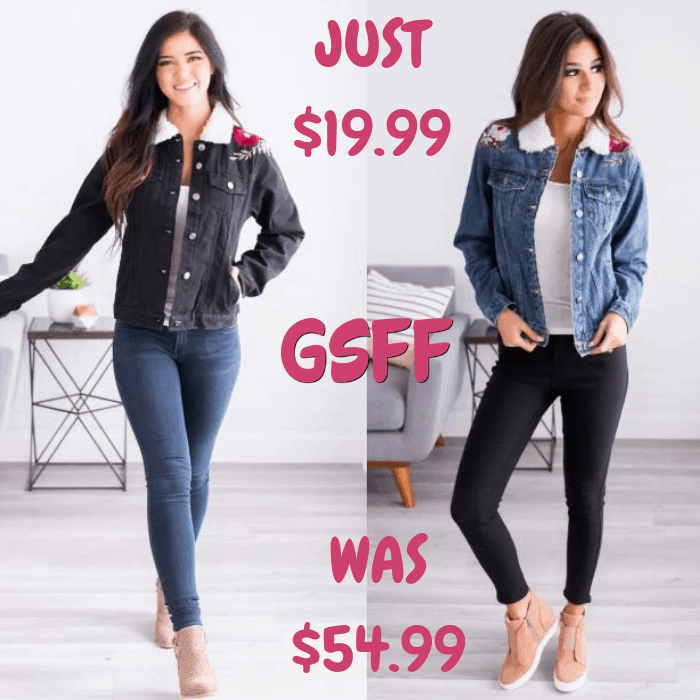 Denim Jacket Just $19.99! Down From $55! Shipped!