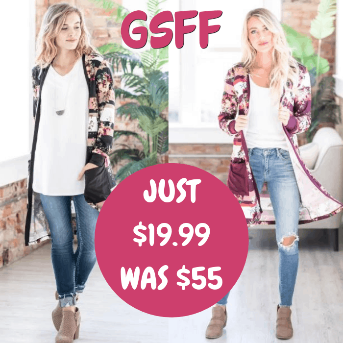 Floral Cardigan Just $19.99! Down From $55! Shipped!