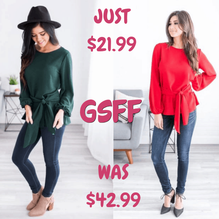 Stella Tie Tunic Just $21.99! Down From $43! Shipped!