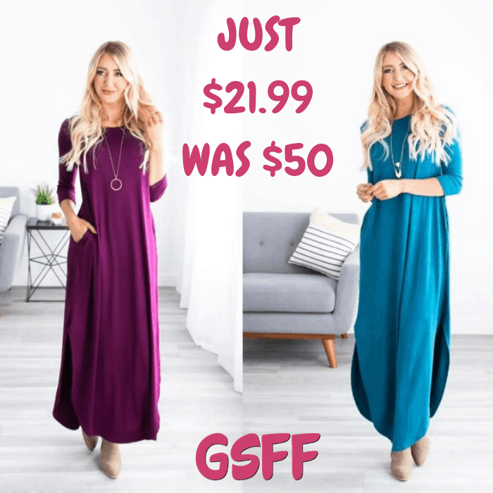 Kyla Pocket Maxi Just $21.99! Down From $50! Shipped!