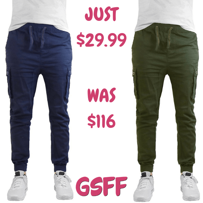 Men's Joggers 2-Pack Just $29.99! Down From $116! Shipped!