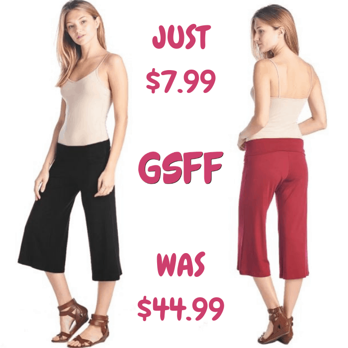 Culottes Capri Pants Just $7.99! Down From $45! Shipped!