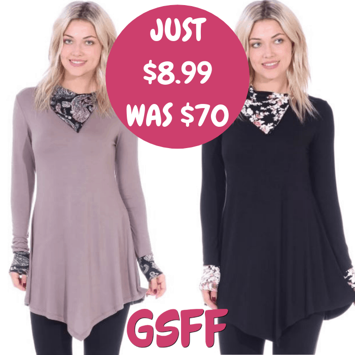 Collar Tunic Just $8.99! Down From $70! FREE Shipping!