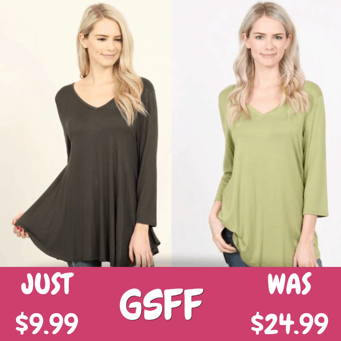 V-Neck Tunic Just $9.99! Down From $25! Shipped!