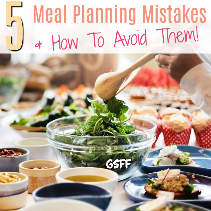 Have you fallen victim to meal planning mistakes? Don't give up!  these 5 tips will help you fix the mistakes and move on!