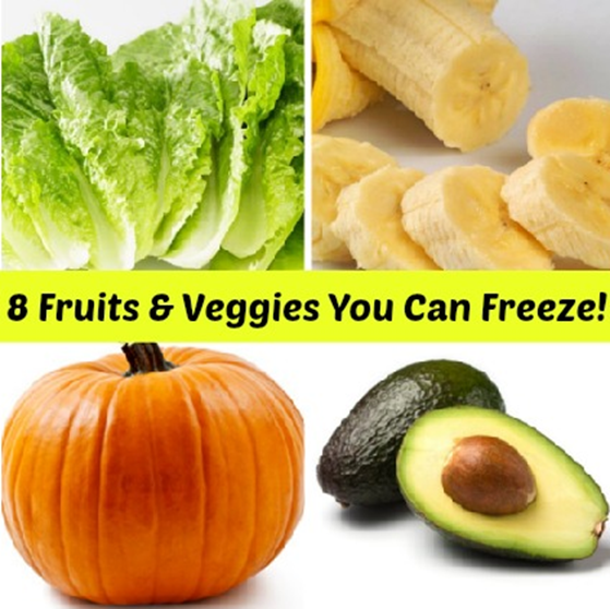 8 Fruits & Vegetables You Can Freeze!