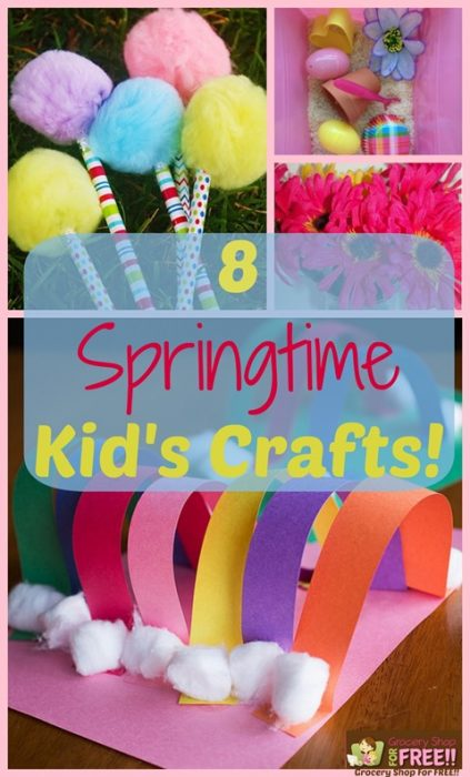 8 Springtime Kid's Crafts