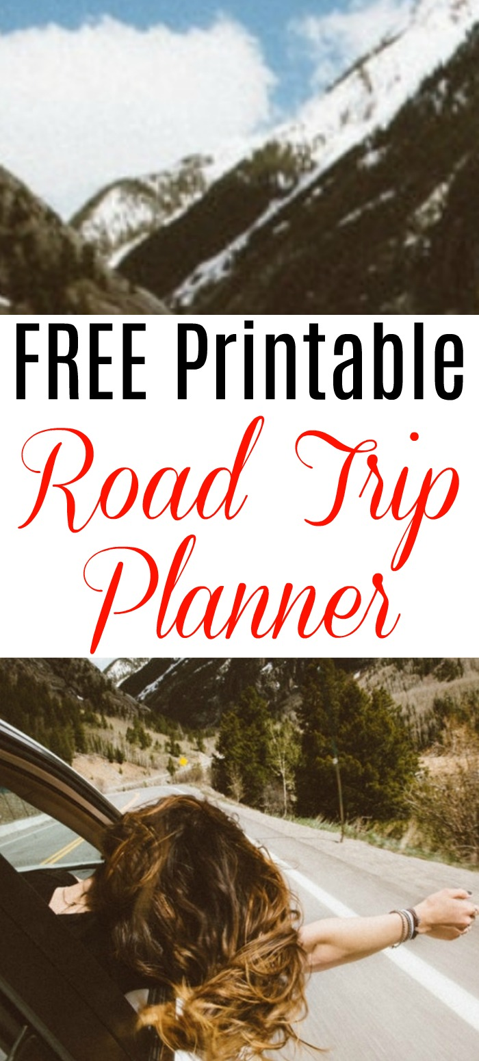 This road trip planner is perfect if you like car trips, camping trips, road trips, or hiking, don't leave home without your free printable road trip planner!