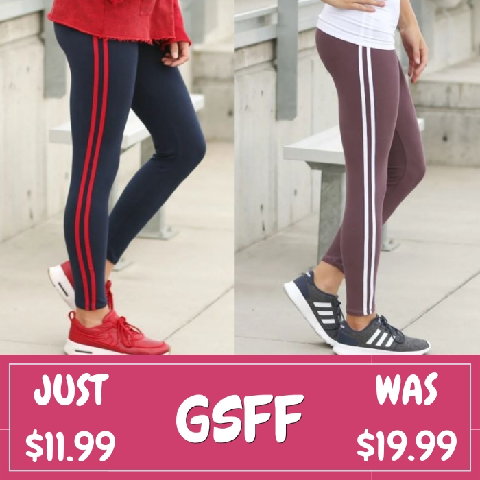 Soft Stripe Leggings Just $11.99! Down From $20! Shipped!