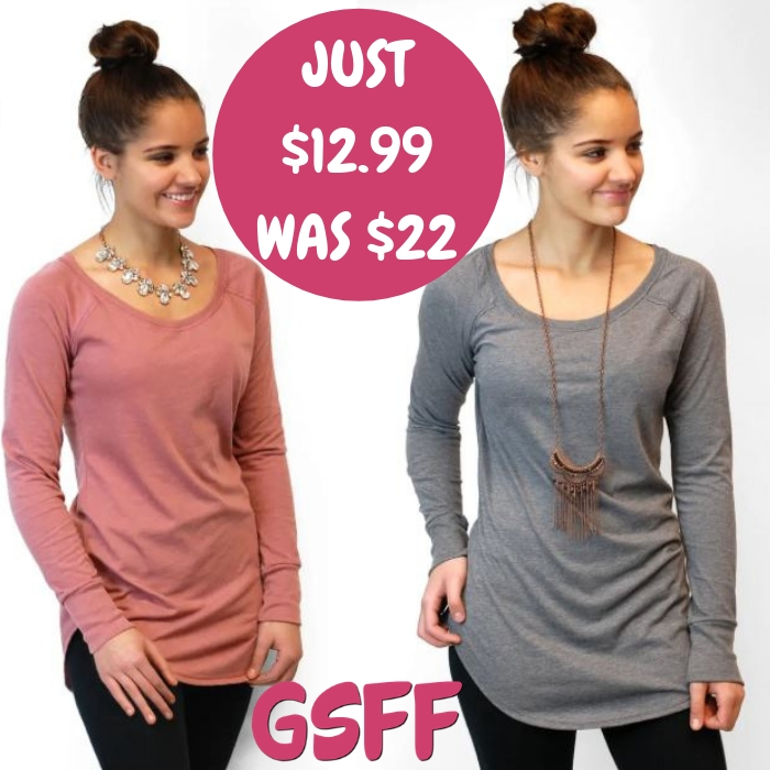 Triblend Tunic Just $12.99! Down From $22! FREE Shipping!