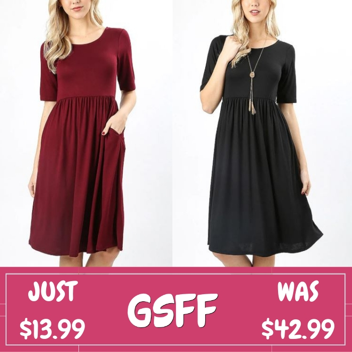 Waist Pocket Dress Just $13.99! Down From $43!