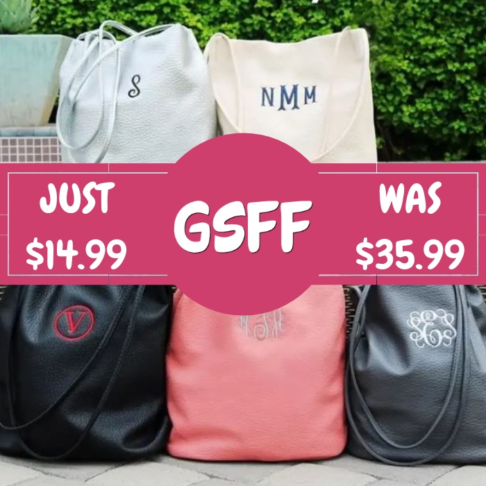 Monogrammed Bucket Bag Just $14.99! Down From $36! Shipped!