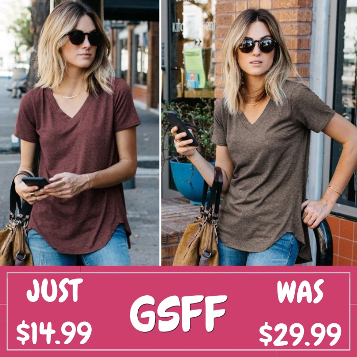 Loose Cut Heather Top Just $14.99! Down From $30! Shipped!