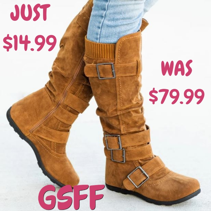 Tan Winter Boot Just $14.99! Down From $80! Shipped!