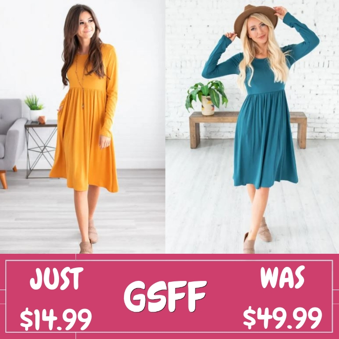 Shirring Waist Dress Just $14.99! Down From $50! Shipped!