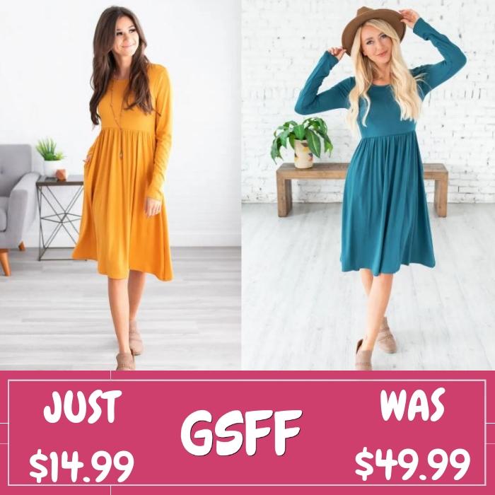 Shirring Waist Dress
