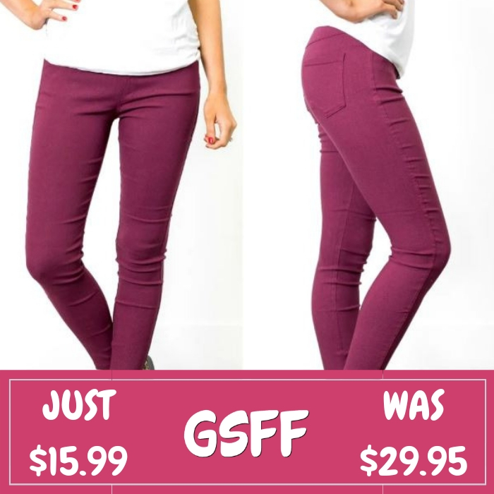 Stretchy Jeggings Just $15.99! Down From $30! Shipped!