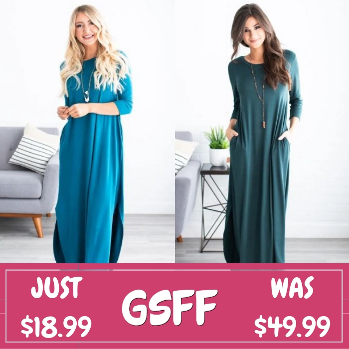 Kyla Pocket Maxi Just $18.99! Down From $50! Shipped!