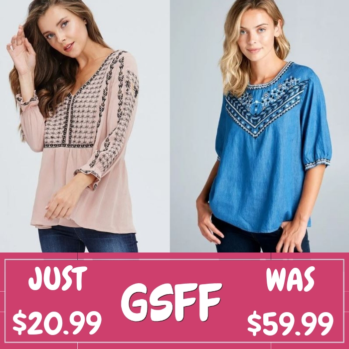 Women's Embroidered Tops