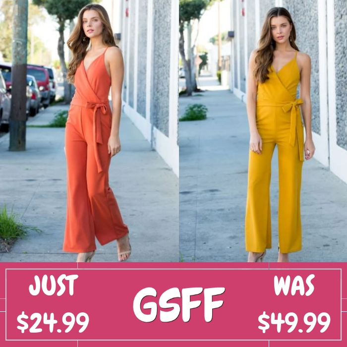 Self Tie Jumpsuit Just $24.99! Down From $50! Shipped!