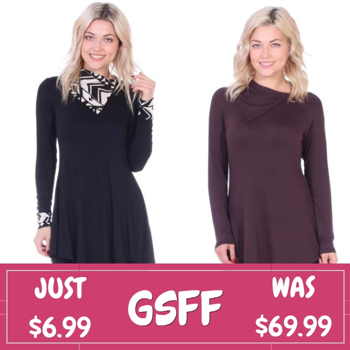 Collar Tunic Just $6.99! Down From $70! FREE Shipping!