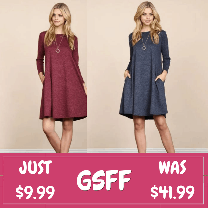 Hacci Pocket Dress Just $9.99! Down From $42! Shipped!