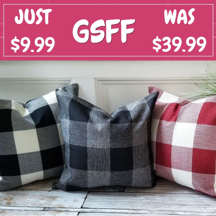 Plaid Pillow Covers Just $9.99! Down From $40! Shipped!