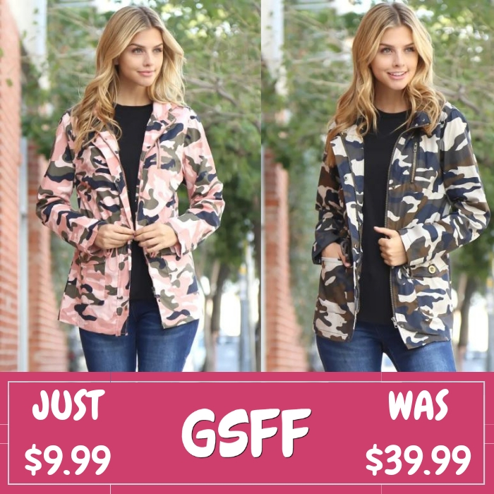 Camo Jacket Just $9.99! Down From $40! FREE Shipping!