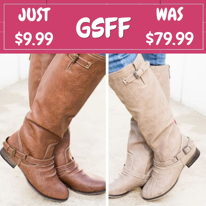 Scrunch Riding Boots Just $9.99! Down From $80! Shipped!
