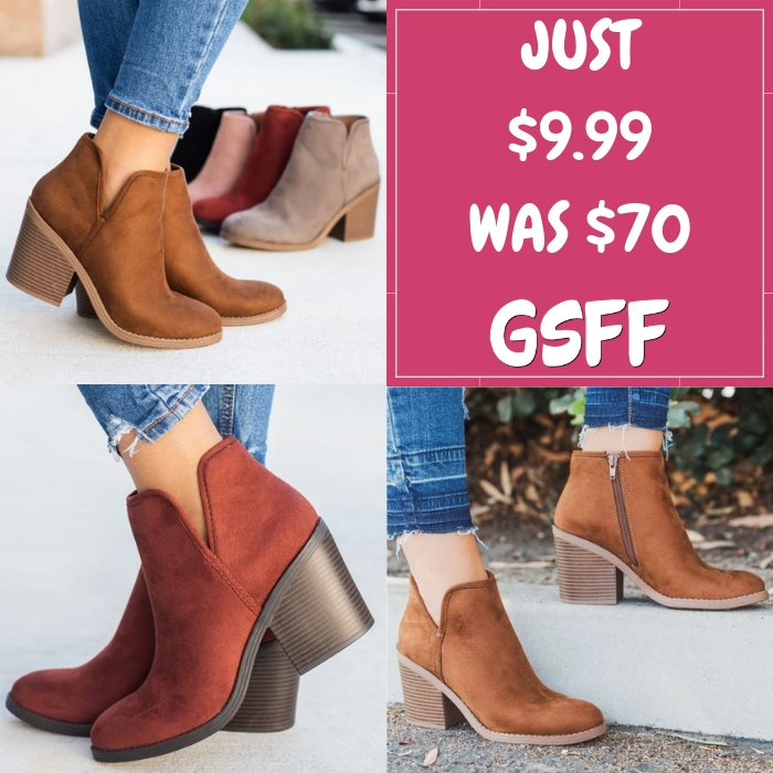 Ankle Booties Just $9.99! Down From $70! FREE Shipping!