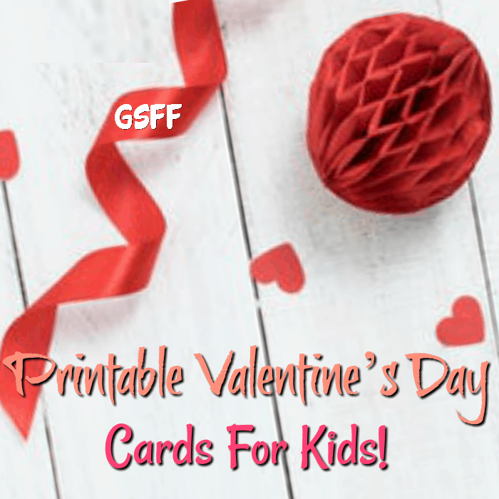 Printable Valentine's Day Cards For Kids Free!