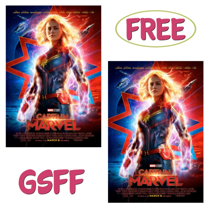 FREE $10 Off Captain Marvel Movie Tickets!