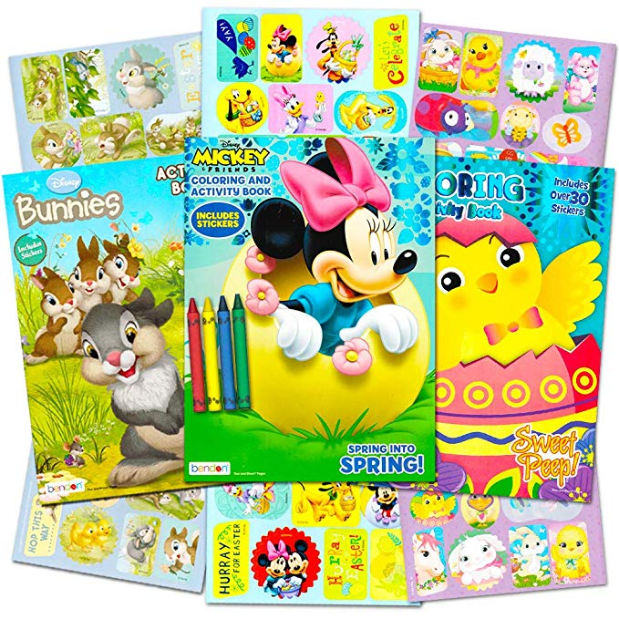 Disney Easter Activity Book Set With Stickers