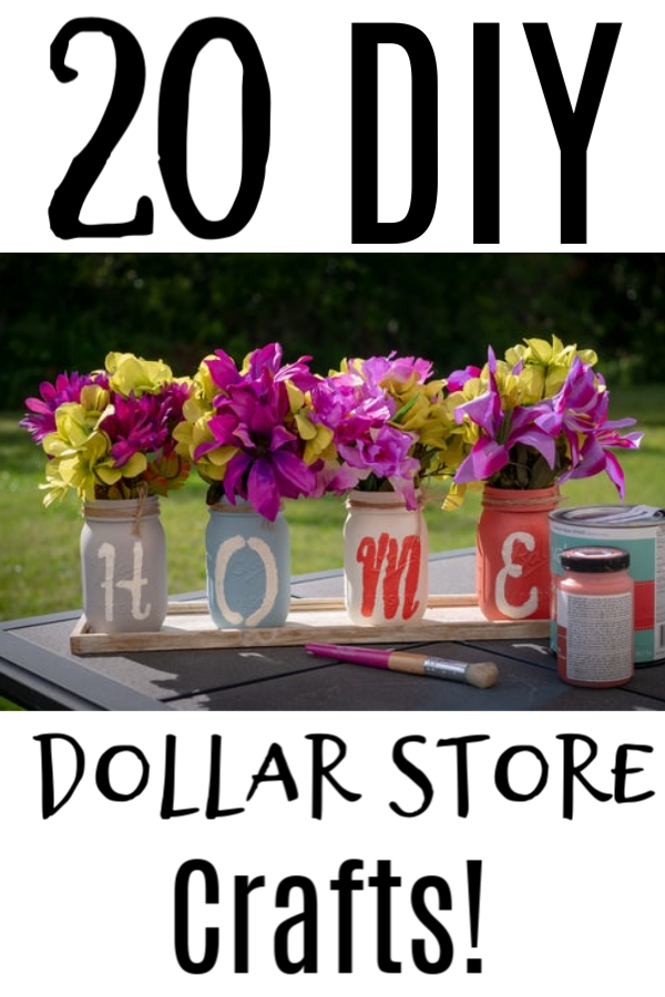 Are you looking for fun crafty home decor or solutions?  these 20 Dollar Store DIY Crafts are just what you're looking for and they are super economical, too!