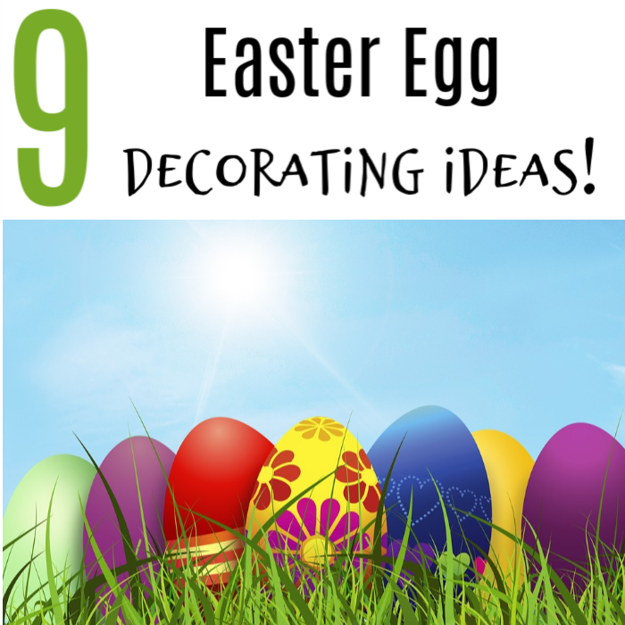 9 fun & easy Easter Egg Decorating Ideas. Decorating Easter Eggs is a great family activity. Make memories this Easter with inexpensive egg decorating ideas.