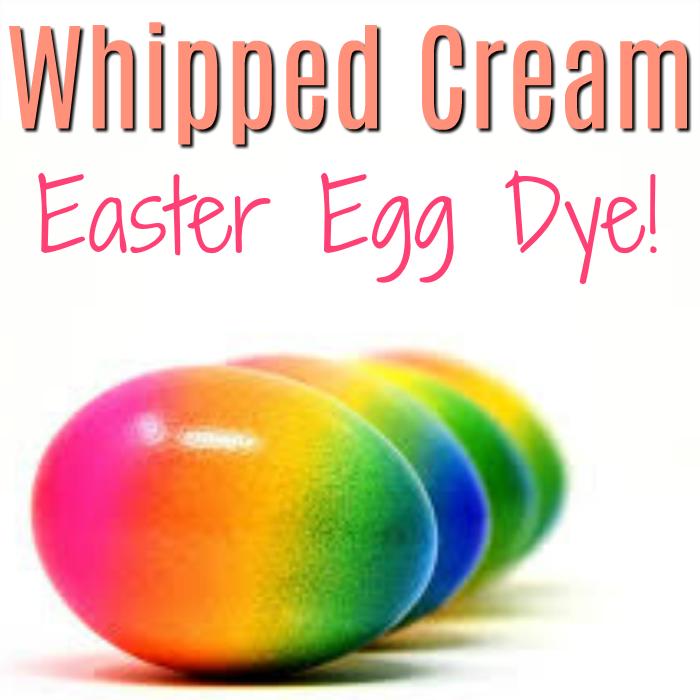 Whipped Cream Easter Egg Dye