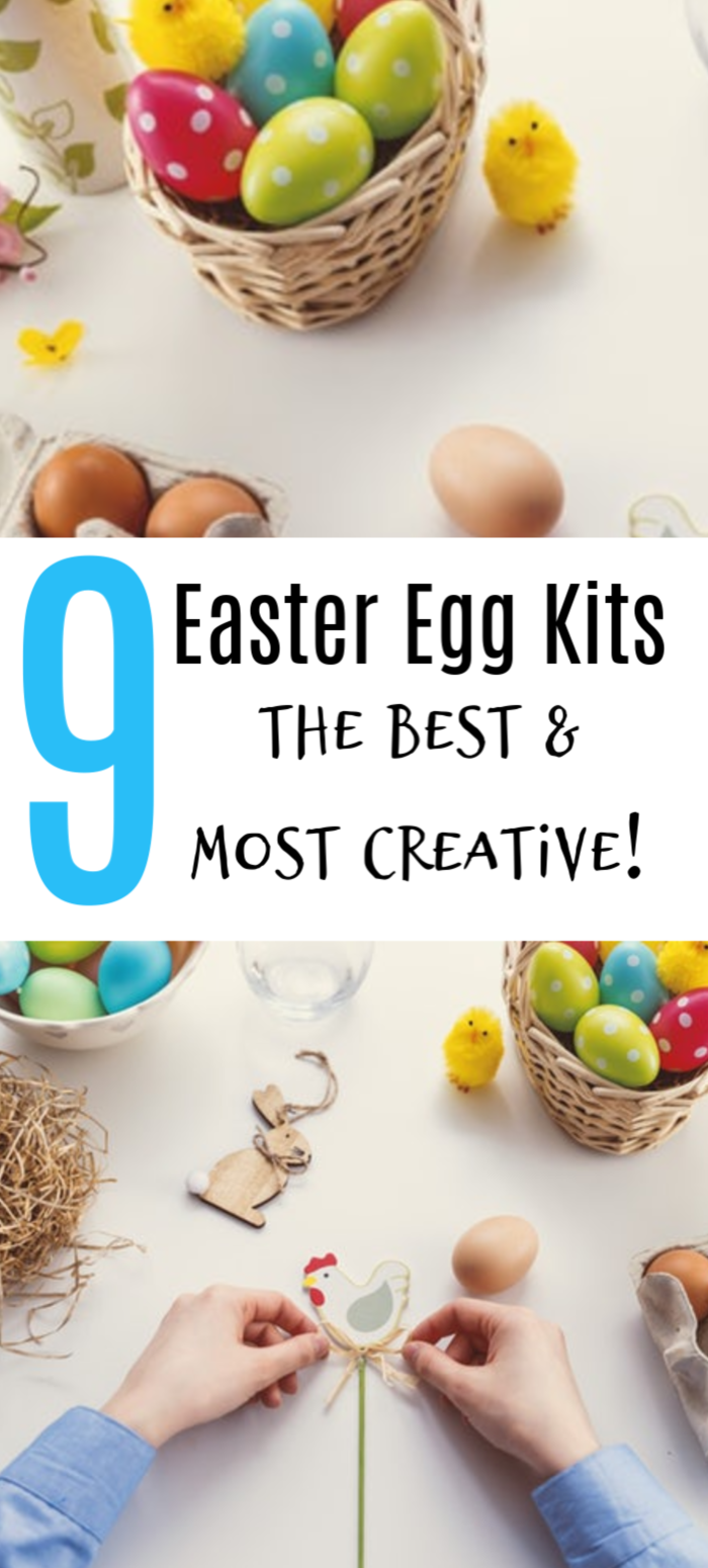 We found 9 Easter Egg Kits that are fun & easy for kids of all ages! Check them out & choose your favorite, you can't go wrong with these egg decorating kits!