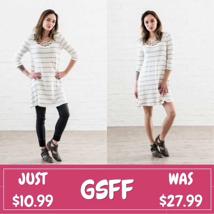 Striped Tunic Dress Just $10.99! Down From $28! Shipped!