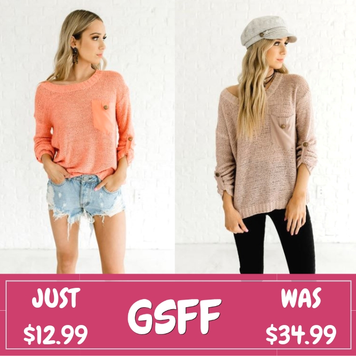 Spring Sweater Just $12.99! Down From $35!