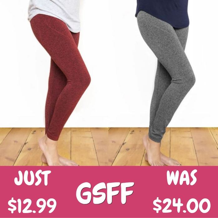 MUK LUKS Leggings Just $12.99! Down From $24! Shipped!