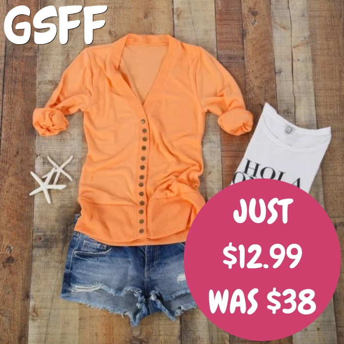 Snap Cardigan Just $12.99! Down From $38!