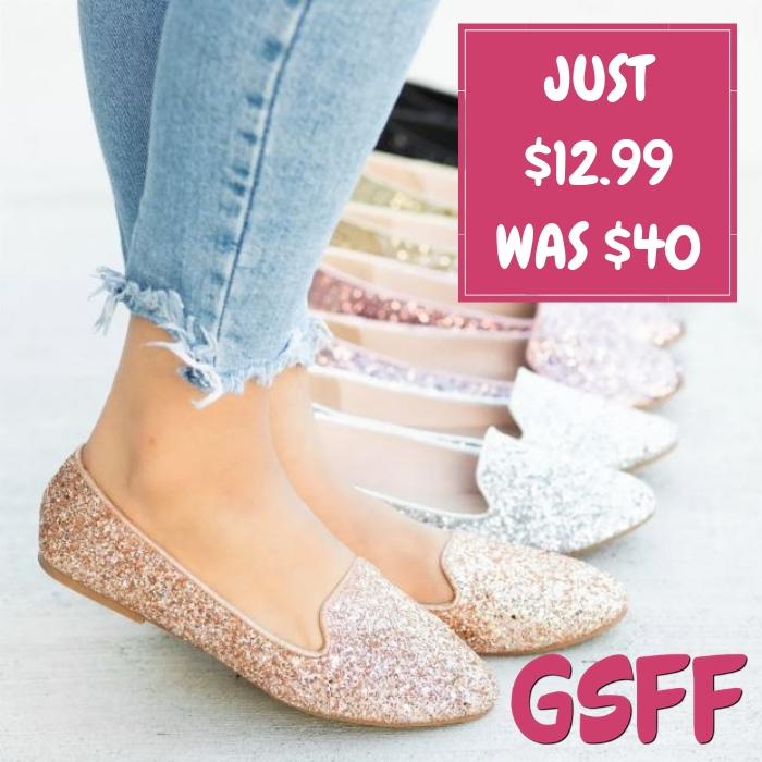 Glitter Loafers Just $12.99! Down From $40! FREE Shipping!