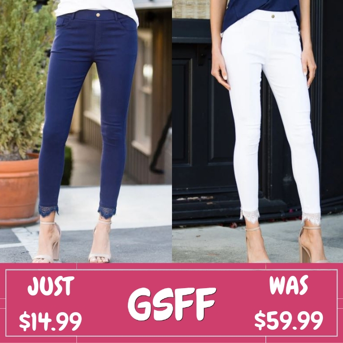 Lace Trim Jeggings Just $14.99! Down From $60!