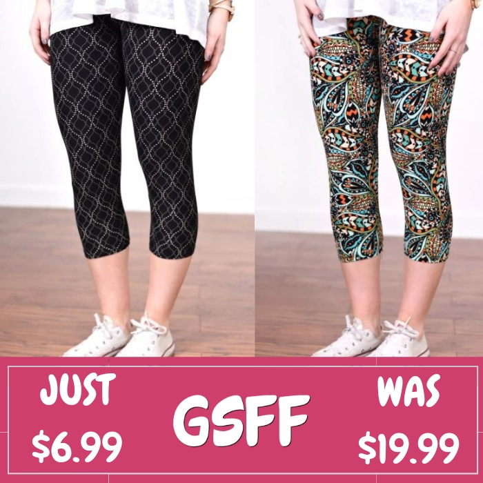 Spring Capri Leggings Just $6.99! Down From $20!