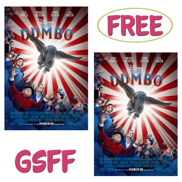 FREE $10 Off Dumbo Movie Tickets From Fandango!