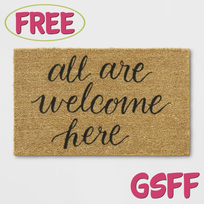 FREE 'All Are Welcome Here' Doormat From Target!