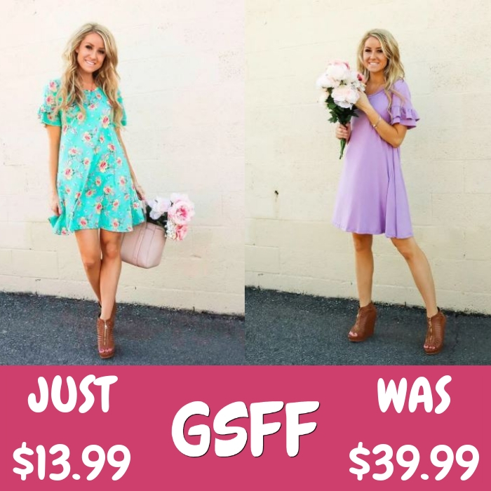 Ruffle Tunic Dress Just $13.99! Down From $40!
