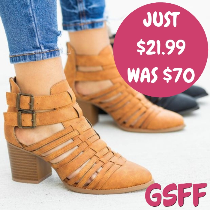 Cage Style Booties Just $21.99! Down From $70! Shipped!