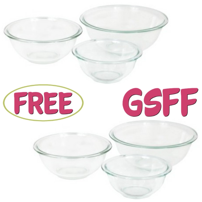FREE 3-Piece Pyrex Mixing Bowl Set From Target!